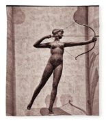 Diana - Goddess Of Hunt Fleece Blanket