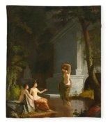Diana At The Fountain Fleece Blanket
