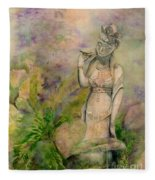 Diana's Garden Fleece Blanket