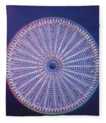 Diatom - Arachnoidiscus Ehrenberi Fleece Blanket