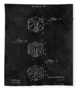 Dice Cube Patent Fleece Blanket