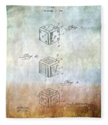 Dice Patent Fleece Blanket
