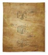 Dice Patent From 1923 Fleece Blanket