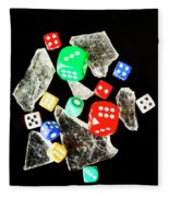 Dicing With Chance Fleece Blanket