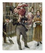 Dickens: A Christmas Carol Fleece Blanket