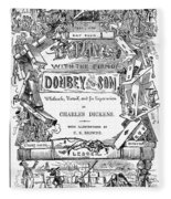 Dickens: Dombey And Son Fleece Blanket