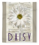 Dictionary Daisy Fleece Blanket