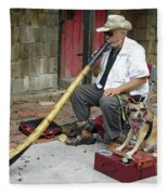 Didgeridoo Performer Fleece Blanket