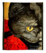 Diego The Cat Fleece Blanket