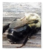 Different Take Of A Bee Fleece Blanket