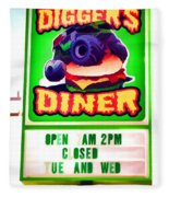 Digger's Diner Fleece Blanket
