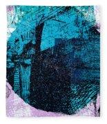 Digital Abstraction Fleece Blanket