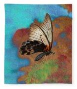 Digital Art Butterfly Fleece Blanket