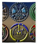 Digital Art Dials Fleece Blanket