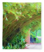 Digital Bamboo Rip Van Winkle Gardens  Fleece Blanket
