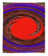 Digital Blue Red Plate Special Fleece Blanket
