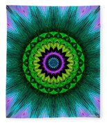 Digital Kaleidoscope Mandala 50 Fleece Blanket