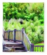 Digital Paint Landscape Jefferson Island  Fleece Blanket