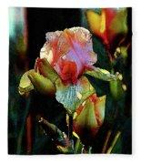 Digital Painting Vibrant Iris 6764 Dp_2 Fleece Blanket