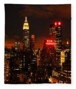 Digital Sunset Fleece Blanket