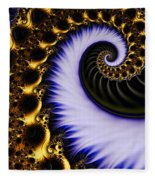 Digital Wave Fleece Blanket