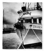 Diligence Bw Fleece Blanket