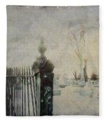Dim Gothic Blur Fleece Blanket