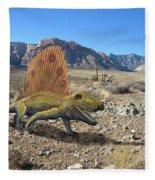 Dimetrodon In The Desert Fleece Blanket