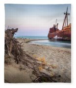 Dimitrios Shipwreck Fleece Blanket