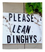 Dinghy Do's Fleece Blanket