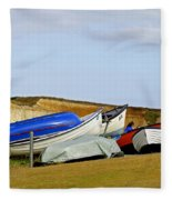 Dinghy Park At Freshwater Bay Fleece Blanket