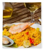 Dining With Paella Fleece Blanket
