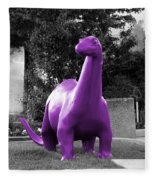 Dino Selective Coloring In Ultra Violet Purple Photography By Colleen Fleece Blanket