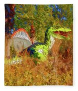 Dinosaur 9 Fleece Blanket
