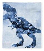 Dinosaur Rex-blue Fleece Blanket