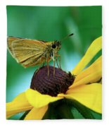 Dion On A Brown Eyed Susan Fleece Blanket