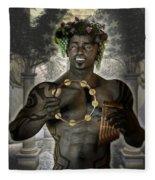 Dionysus God Of Grape Fleece Blanket