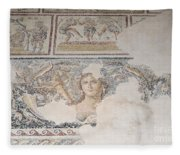 Dionysus Mosaic Mona Lisa Of The Galilee Fleece Blanket