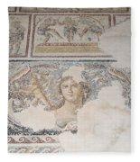 Dionysus Mosaic Mona Lisa Of The Galilee Fleece Blanket