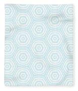 Dip In The Pool -  Pattern Art By Linda Woods Fleece Blanket