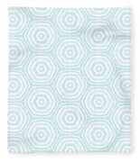 Dip In The Pool -  Pattern Art By Linda Woods Fleece Blanket