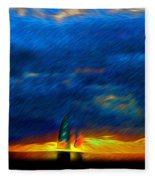 Directionless Familiar II Fleece Blanket