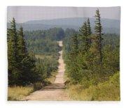 Dirt Road To Dolly Sods Fleece Blanket