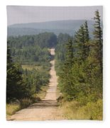Dirt Road To Dolly Sods Fleece Blanket