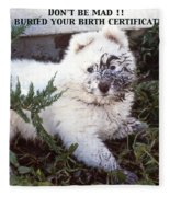 Dirty Dog Birthday Card Fleece Blanket