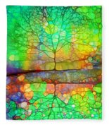 Disappearing In Colour Fleece Blanket