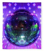 Disco Ball Purple Fleece Blanket