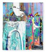 Disco Dock Seagull Fleece Blanket