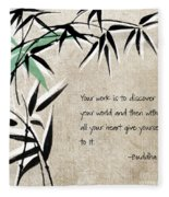 Discover Your World Fleece Blanket