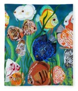 Discus Fantasy Fleece Blanket